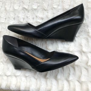 Franco Sarto Black Frankie Pointy Toe Wedges